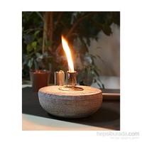 GardenLife Dekoratif Gaz Lambası - Yarı Küre Beton Mumluk