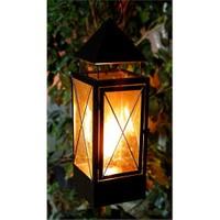 GardenLife Dekoratif Gaz Lambası - Siyah Torch Black Gazlı Mumluk S