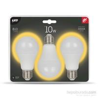 Petrix 10W 3'Lü Paket Led Ampul - Sarı Işık