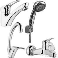 Şenpres (4 Parça)Lavabo+Eviye+Banyo+Duş Seti