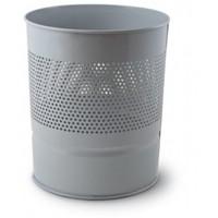 Mas 0852 Çöp Kovası Yarım Delikli Metal Gri