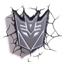 3D Light Fx Transformers Deception Shield Duvar Lambası