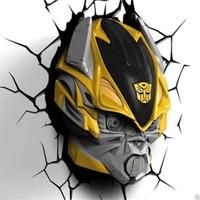 3D Light Fx Transformers Bumble Bee Duvar Lambası