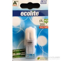 Ecolite Led G9 Dimmerable Ampul 2,5W Sarı Işık
