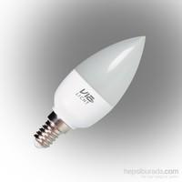 Vialicht 5,5W (40W) Led Mum Ampul E14 470lm 2700K DIM