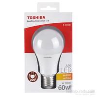 Toshiba 9.5W(60W) Klasik Tip 806Lm Standart(E27) Duylu Sarı Led Lamba