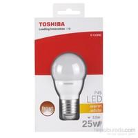 Toshiba 3.5W(25W) Küre Tipi 250Lm Standart Duylu Buzlu Sarı Led Lamba