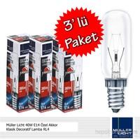 Müller Licht 40W E14 Özel Akkor Klasik Decoratif Lamba RL4 - 3'lü Paket
