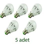 Odalight 7W Enerji Led Ampul Beyaz Işık 5'Li Paket