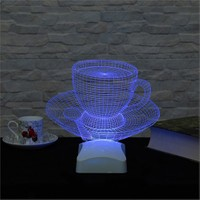 Dekorjinal 3 Boyutlu Fincan Kahve Lamba V23d173