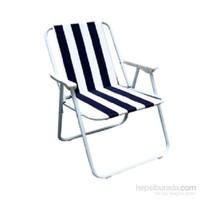 Katlanır Kamp ve Plaj Sandalye (Mavi Beyaz)