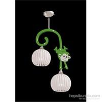 Sedef Yeşil Maymun 2'Li Avize