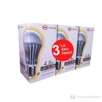 Hizmark 4.8Watt LED Ampul =25Watt Sarı Işık Eko 3'lü Paket