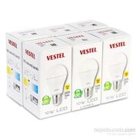 Vestel Led Ampul - E27 - 10W - 5000K - Beyaz Işık - 6 Adet