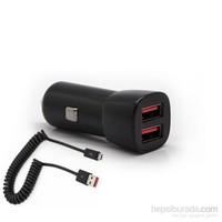 Swisscharger SCH 30022 Universal Araç Şarjı 2 USB'li ve Mikro USB kablolu
