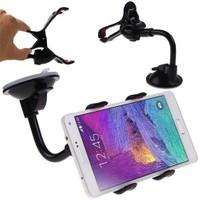 Biartt Çift Kıskaçlı Telefon Tutucu 360 Derece Dönebilir Güçlü Vantuz