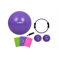 Liveup Pilates Ve Yoga Set Mor