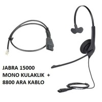 Jabra Bız 1500 Mono Qd Nc Mikrofonlu Telefon Kulaklığı Ve 8800 Kablo