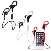 Cyber Spor Bluetooth Kablosuz Kulaklık Kırmızı