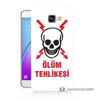 Teknomeg Samsung Galaxy A5 2016 Kapak Kılıf Ölüm Tehlikesi Baskılı Silikon