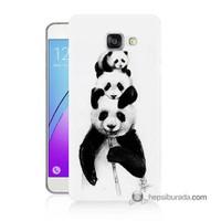 Teknomeg Samsung Galaxy A5 2016 Kapak Kılıf Panda Ailesi Baskılı Silikon