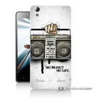 Teknomeg Lenovo A6010 Kapak Kılıf Müzik Hayattır Baskılı Silikon