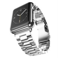 Case 4U Apple Watch Metal Kayış Baklalı Model Gümüş 42 mm - 44 mm