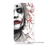 Teknomeg İphone 4S Kapak Kılıf Kanlı Joker Baskılı Silikon