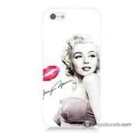 Teknomeg İphone 5 Kapak Kılıf Marilyn Monroe Baskılı Silikon