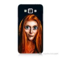 Teknomeg Samsung Galaxy Grand Max Zombie Kız Baskılı Silikon Kılıf