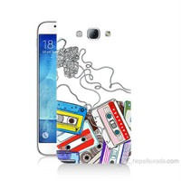 Teknomeg Samsung Galaxy A8 Kasetler Baskılı Silikon Kılıf