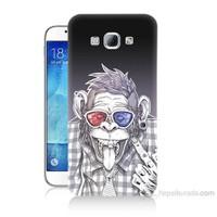 Teknomeg Samsung Galaxy A8 Maymun Baskılı Silikon Kılıf