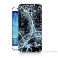 Teknomeg Samsung Galaxy A8 Matematik Baskılı Silikon Kılıf