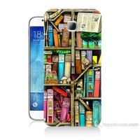 Teknomeg Samsung Galaxy A8 Kitaplık Baskılı Silikon Kılıf