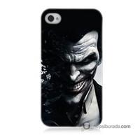 Teknomeg İphone 4 Kılıf Kapak Joker Baskılı Silikon