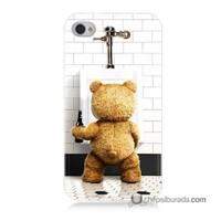 Teknomeg İphone 4 Kılıf Kapak Tedy Bear Baskılı Silikon