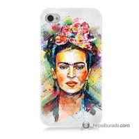 Teknomeg İphone 4 Kapak Kılıf Frida Baskılı Silikon