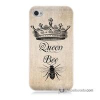 Teknomeg İphone 4 Kılıf Kapak Queen Bee Baskılı Silikon