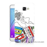 Teknomeg Samsung Galaxy A7 2016 Kapak Kılıf Kasetler Baskılı Silikon