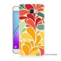 Teknomeg Samsung Galaxy A7 2016 Kapak Kılıf Çiçekler Baskılı Silikon
