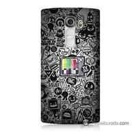 Teknomeg Lg G4 Renkli Tv Baskılı Silikon Kılıf