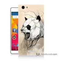 Teknomeg Casper Via M1 Kapak Kılıf Kavgacı Panda Baskılı Silikon