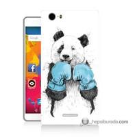 Teknomeg Casper Via M1 Kılıf Kapak Boksör Panda Baskılı Silikon