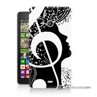 Teknomeg Nokia Lumia 535 Kapak Kılıf Notalar Baskılı Silikon