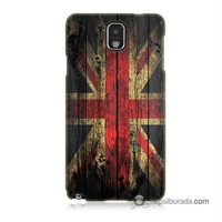 Teknomeg Samsung Galaxy Note 3 Kapak Kılıf İngiliz Bayrağı Baskılı Silikon