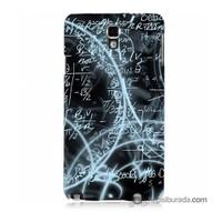 Teknomeg Samsung Galaxy Note 3 Neo Kapak Kılıf Matematik Baskılı Silikon