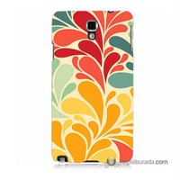 Teknomeg Samsung Galaxy Note 3 Neo Kapak Kılıf Çiçekler Baskılı Silikon