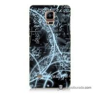 Teknomeg Samsung Galaxy Note 4 Kapak Kılıf Matematik Baskılı Silikon