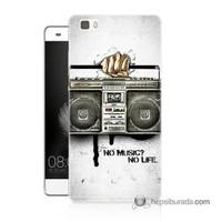 Teknomeg Huawei P8 Lite Kapak Kılıf Müzik Hayattır Baskılı Silikon