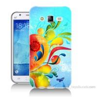 Teknomeg Samsung Galaxy J7 Kapak Kılıf Renkli Desen Baskılı Silikon
